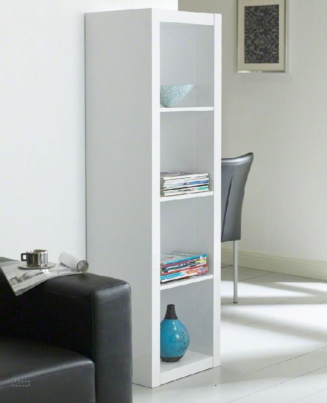 Gloss Bibliotheque Etagere Laque Blanc Design