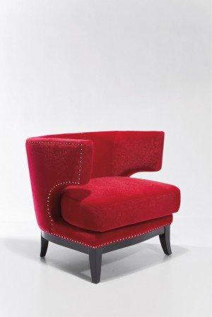 fauteuil prince velours rouge. Black Bedroom Furniture Sets. Home Design Ideas