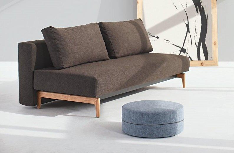 innovation living trym canape design marron convertible lit 140 200 cm. Black Bedroom Furniture Sets. Home Design Ideas