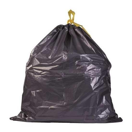 500 sacs poubelles avec liens coulissants 30l 27 noirs. Black Bedroom Furniture Sets. Home Design Ideas