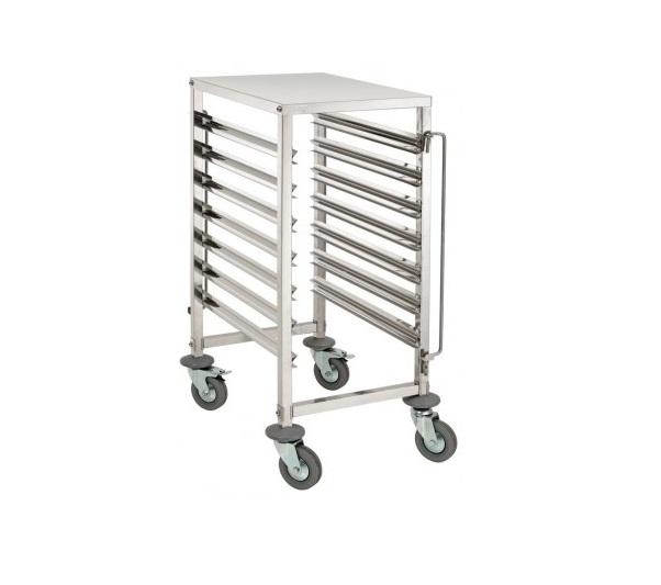 Chariots et tables de restauration tous les fournisseurs for Echelle inox cuisine