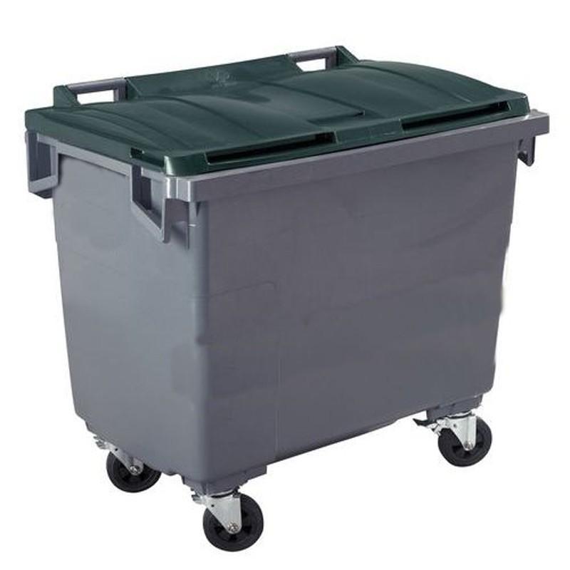 conteneur poubelle 660 l cuve grise 4 roues comparer les prix de conteneur poubelle 660 l. Black Bedroom Furniture Sets. Home Design Ideas