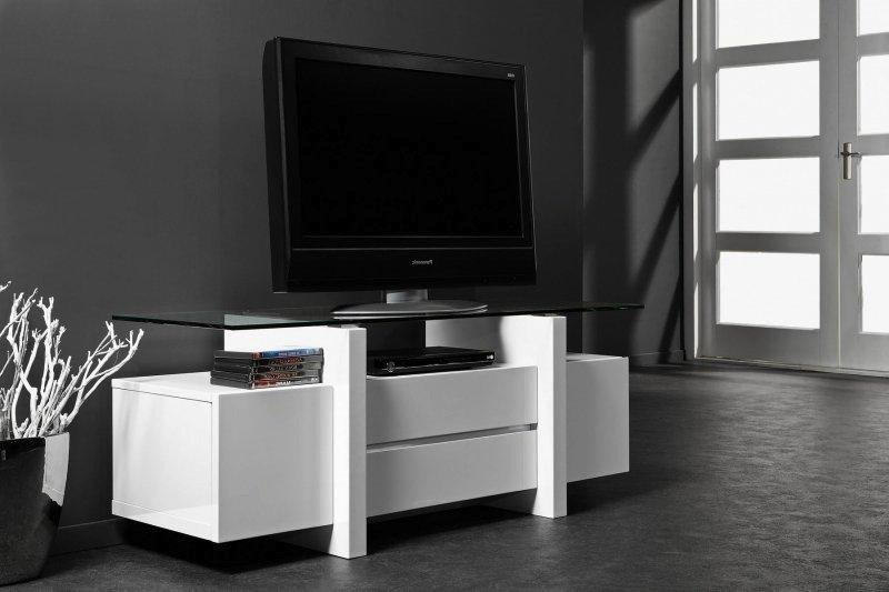 meuble tv design laque banc et verre trempe 10mm 2 tiroirs. Black Bedroom Furniture Sets. Home Design Ideas