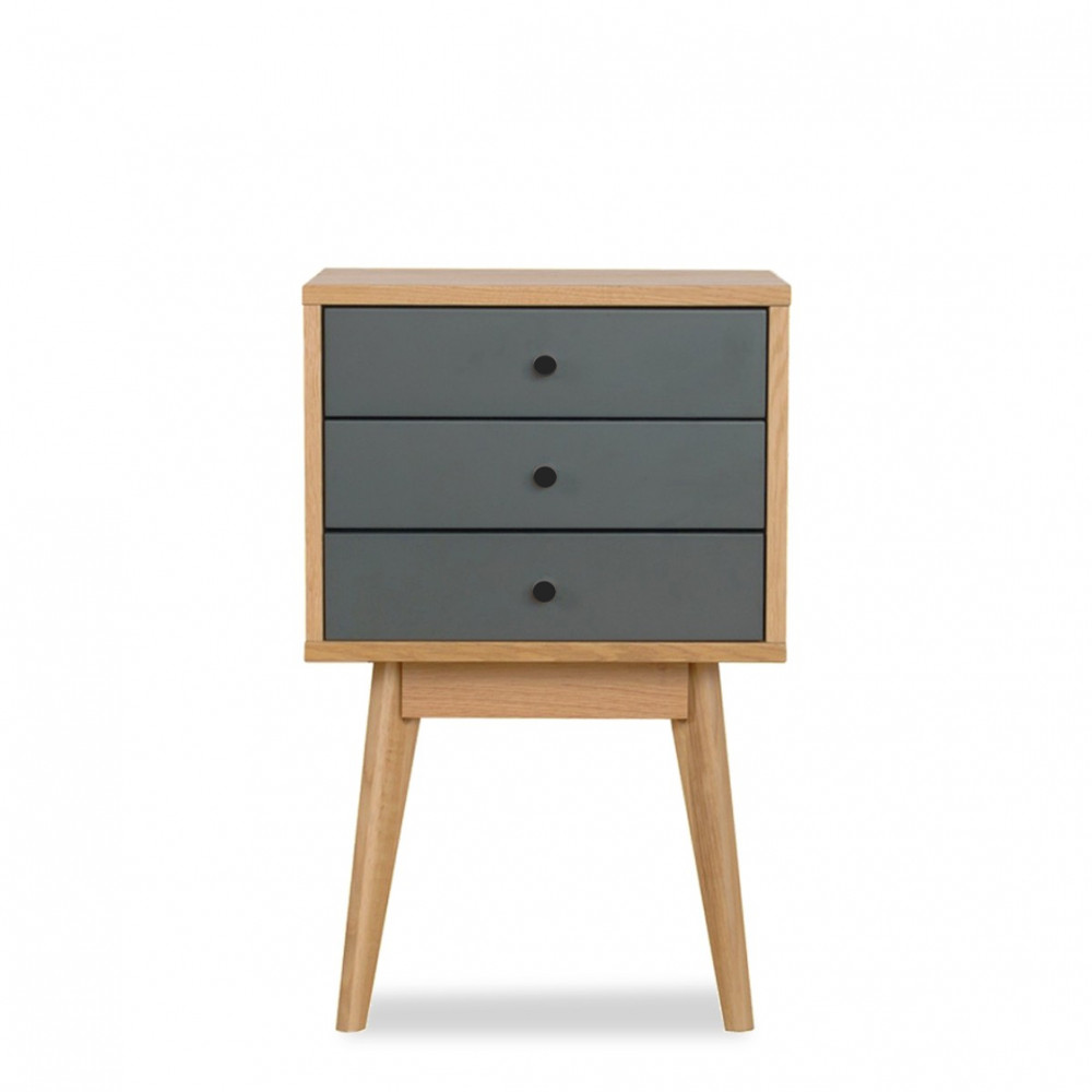 petits meubles de chambre design scandinave 3 tiroirs skoll 470033. Black Bedroom Furniture Sets. Home Design Ideas