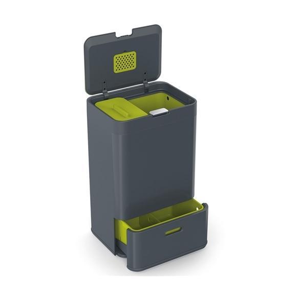 poubelle joseph joseph intelligent waste 50l 50 graphite. Black Bedroom Furniture Sets. Home Design Ideas