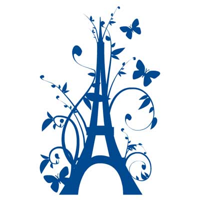 Sticker geant tour eiffel fleurie for Stickers tour eiffel chambre