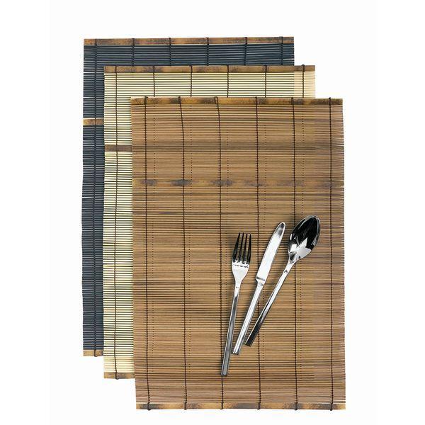 set de table bambou noire x 12. Black Bedroom Furniture Sets. Home Design Ideas