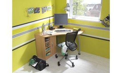 Wellemobel bureau angle marius l aspect hetre for Bureau d angle sur mesure