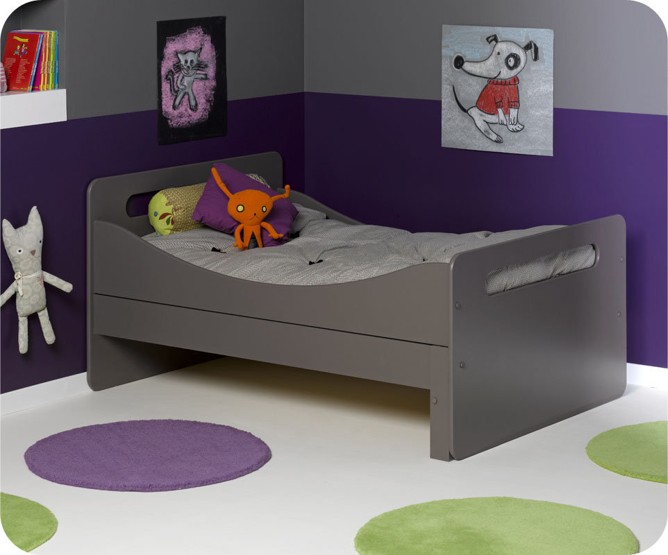 simple lit enfant volutif eden taupe with lit bebe. Black Bedroom Furniture Sets. Home Design Ideas
