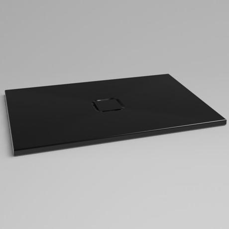 receveur de douche 100x80cm en stradian noir sefoa comparer les prix de receveur de douche. Black Bedroom Furniture Sets. Home Design Ideas