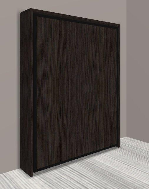 armoire lit escamotable cronos chene anthracite couchage 140 22 200 cm. Black Bedroom Furniture Sets. Home Design Ideas