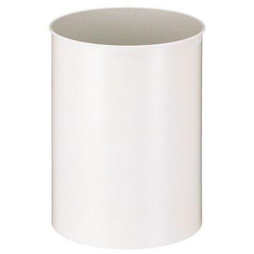 poubelle ronde en m tal 50 l blanc comparer les prix de. Black Bedroom Furniture Sets. Home Design Ideas