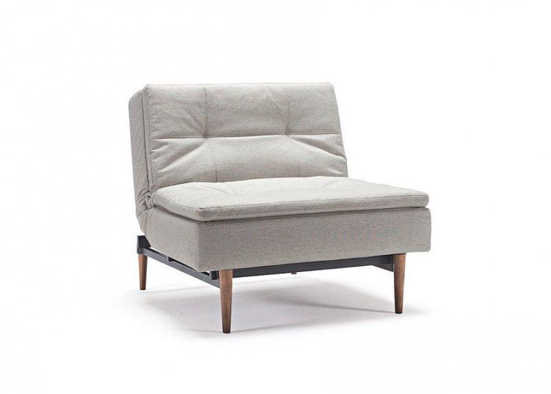 innovation living fauteuil design dublexo couleur lin pieds noyer fonc convertible lit 90 115. Black Bedroom Furniture Sets. Home Design Ideas