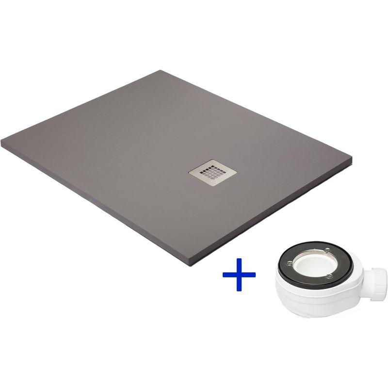 Receveur de douche extra plat gris poussi re ral 7037 for Miroir 70x170