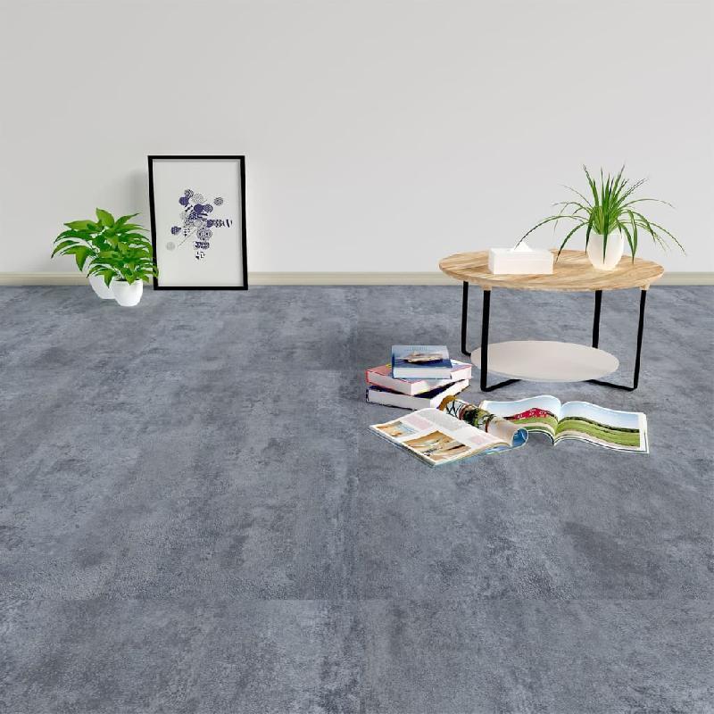 Vidaxl planches plancher autoadhésives 20 pcs pvc 1,86 m² marbre gris