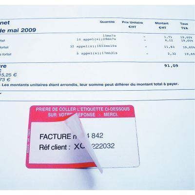 Boite de 500 étiquettes adhésives références à rappeler