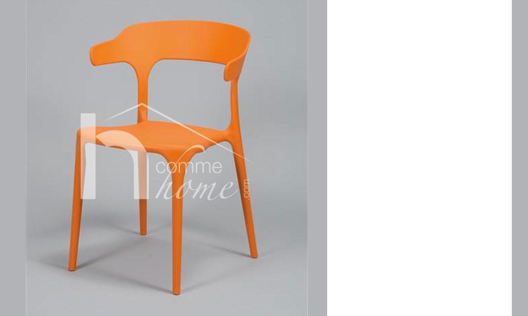 chaise design orange mora lot de 4 plusieurs coloris au choix. Black Bedroom Furniture Sets. Home Design Ideas