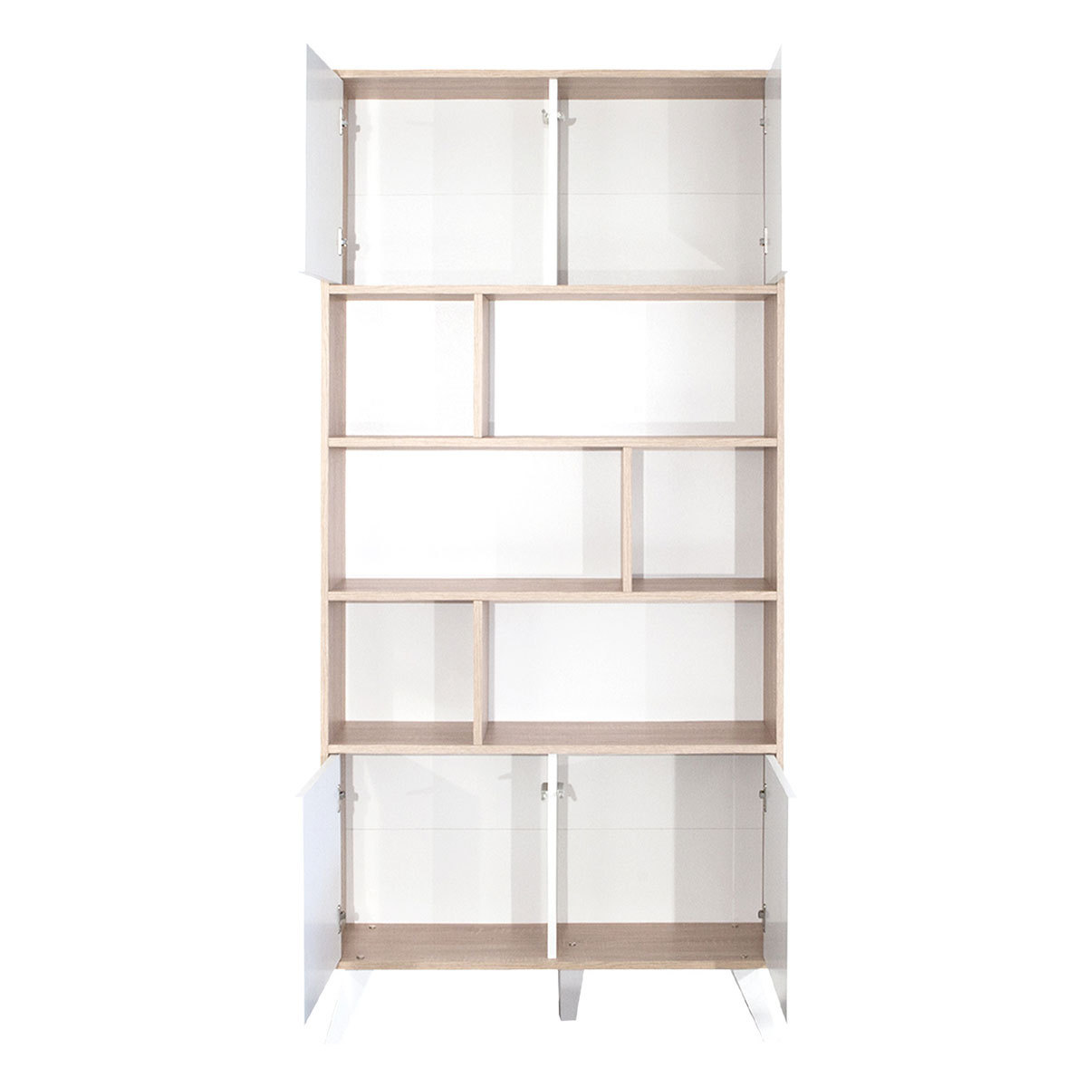 meuble bibliotheque generique prism 186 5 x 89 5 cm chene blanc. Black Bedroom Furniture Sets. Home Design Ideas