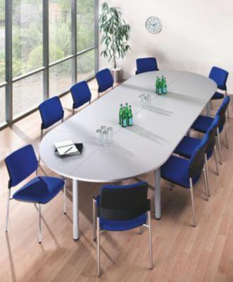 office akktiv table de conf rence plateau en demi cercle largeur 800 mm fa on rable. Black Bedroom Furniture Sets. Home Design Ideas