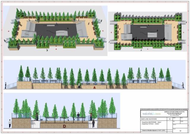 conception skatepark 300m2 babylone hors sol. Black Bedroom Furniture Sets. Home Design Ideas