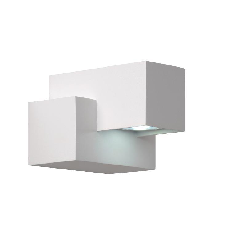 kwinto applique led d 39 ext rieur blanc h9cm luminaire d 39 ext rieur lucide design par comparer. Black Bedroom Furniture Sets. Home Design Ideas