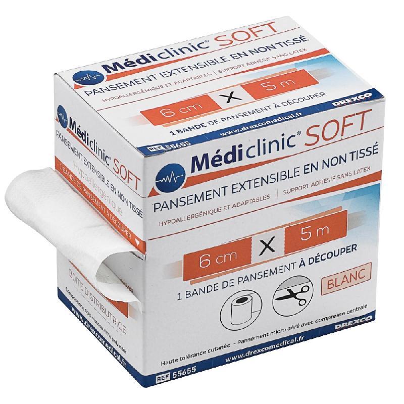 Pansement non-tissé mediclinic soft - lot de 3 -     8 cm x 5 m