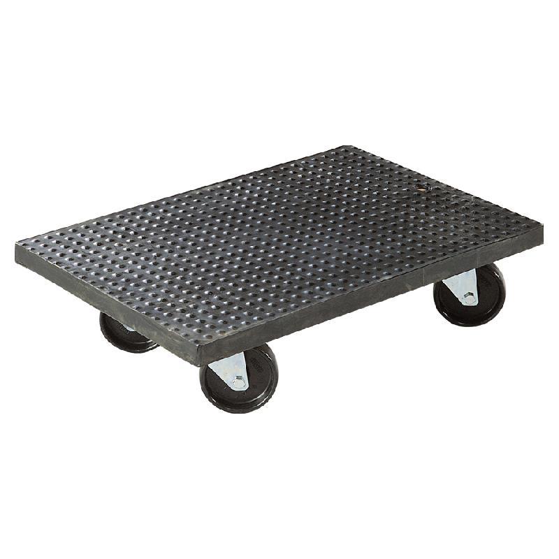 plateau roulant bois l x l 60 x 60 cm avec rev tement caoutchouc comparer les prix de. Black Bedroom Furniture Sets. Home Design Ideas