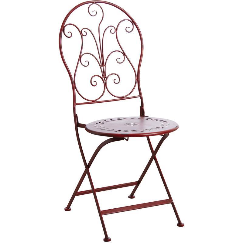 Chaise et fauteuil d 39 ext rieur aubry gaspard achat vente de chaise et - Chaise pliante rouge ...