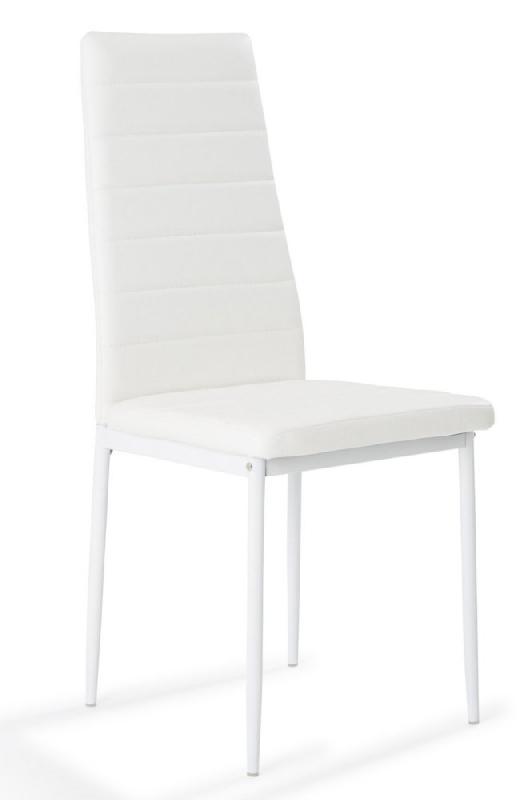mémoire design à Chaise assise forme blanc de similicuir nosa Rq53jL4A