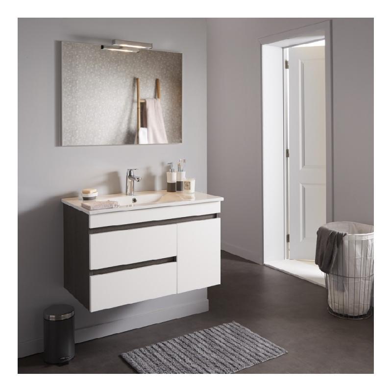 Meuble avec miroir salle de bain maison design for Meuble mural avec miroir