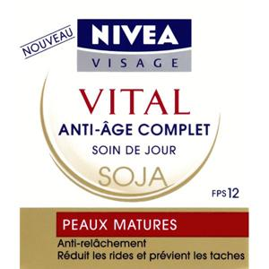 nivea visage soin vital jour intensif anti age complet soja peaux matures pot 50 ml. Black Bedroom Furniture Sets. Home Design Ideas