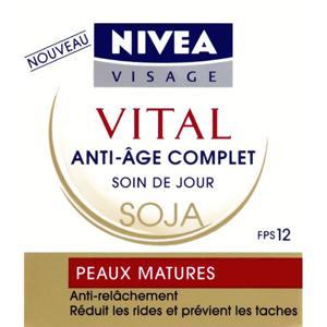 Nivea visage soin vital jour intensif anti-age complet soja peaux matures pot 50 ml