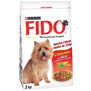 fido purina croquettes pour chien croqmix au boeuf 1 kg. Black Bedroom Furniture Sets. Home Design Ideas