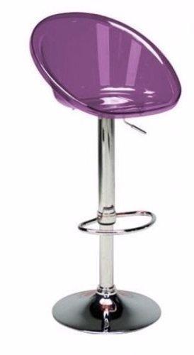 Chaise De Bar Sphere Transparente Violet