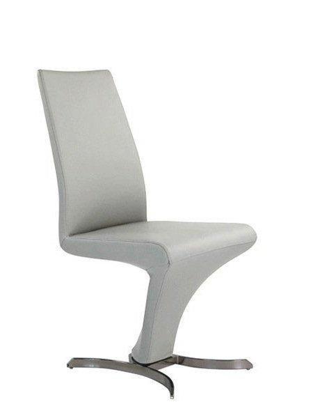 chaise design zoe simili cuir blanc et acier inoxydable. Black Bedroom Furniture Sets. Home Design Ideas
