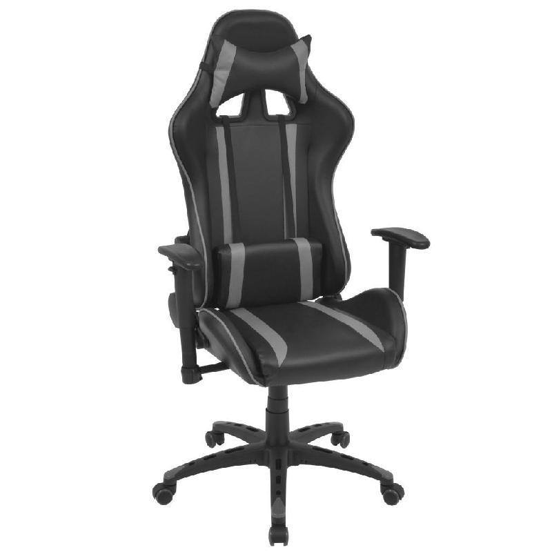 Fauteuil chaise chaise de bureau inclinable cuir artificiel gris 0502032