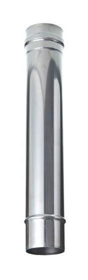 TUBE DROIT RIGIDE INOX SIMPLE PAROI Ø180MM / L 500MM - JEREMIAS