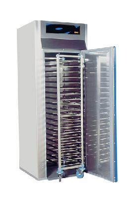 Armoire chaude à chariot gn 1/1 +63°c demontable - 1 porte - 1000 l - simple acces