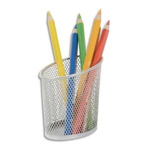alba pot a crayons en metal argente meshcup m. Black Bedroom Furniture Sets. Home Design Ideas