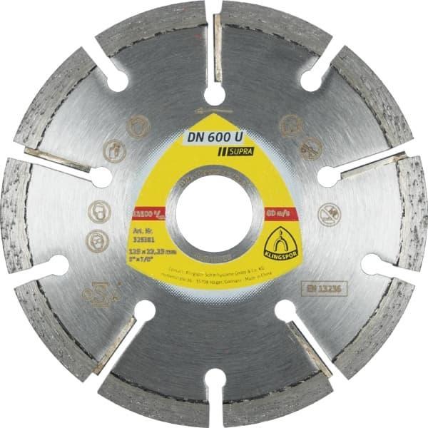 Dn 600 u supra disques à tronçonner diamantés - klingspor