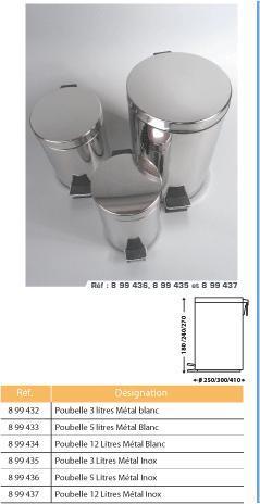Poubelle 12 litres inox - Poubelle trois compartiments ...