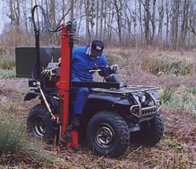 Tarière pour plantation d'arbre ou analyse de sol