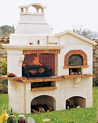Barbecue fixe avec four a pizza - Comment faire griller du pain au four ...