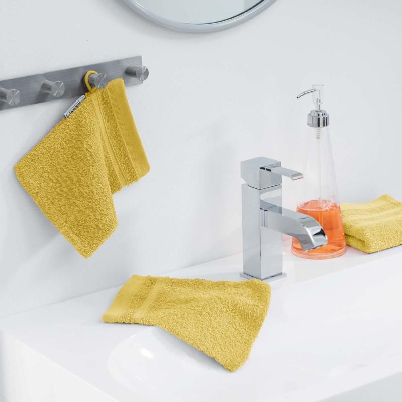 Lot de 2 gants de toilette vitamine 15x21cm miel - paris prix