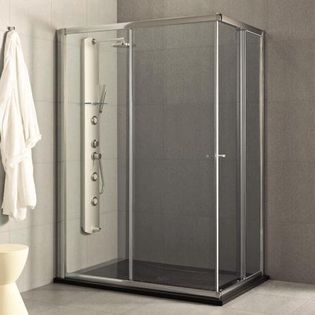 Paroi d 39 angle pour receveur de douche 100x70cm step - Paroi douche angle ...