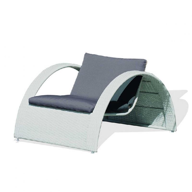 Chaise longue comparez les prix pour professionnels sur - Bains de soleil resine tressee ...