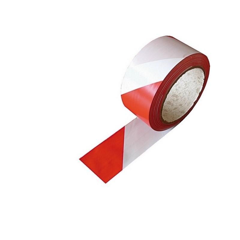 Rouleau de 33 mètres de long détresse bande adhésive sécurité rouge et blanc