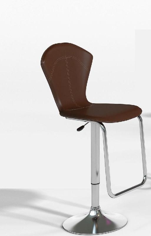 lot de 2 tabourets chaises de bar design jazzy marron et metal. Black Bedroom Furniture Sets. Home Design Ideas
