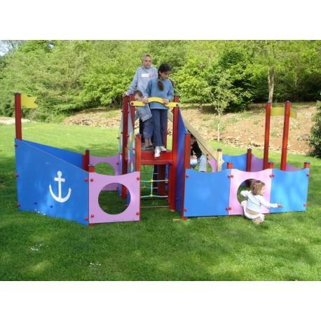 Jeu d'extérieur pour enfant le bateau