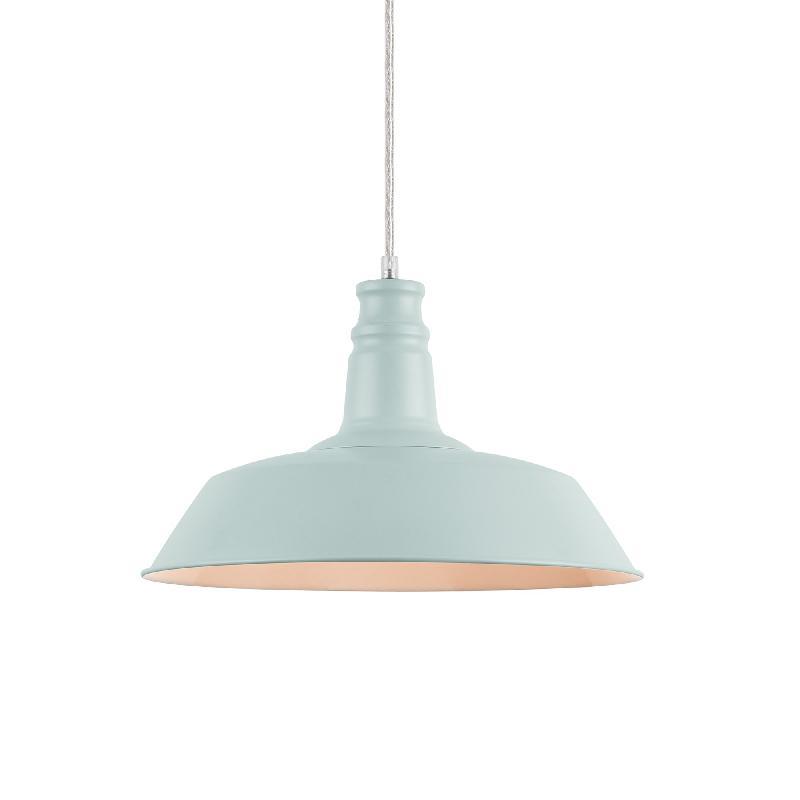 Lampe suspension décorative abat-jour diamètre 36 cm bleu clair 03_0003933